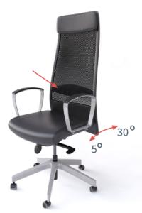 Oparcie krzesła